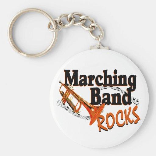 Marching Band Rocks Basic Round Button Key Ring