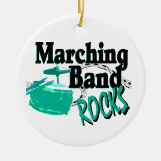 Marching Band Rocks Christmas Ornament