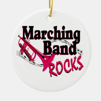 Marching Band Rocks Round Ceramic Decoration