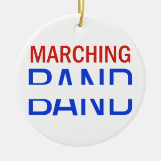 Marching Band School Name Drop Round Ceramic Decoration