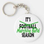 Marching Band Season Basic Round Button Key Ring