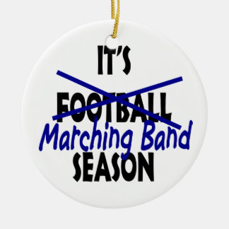 Marching Band Season Photo Christmas Ornament