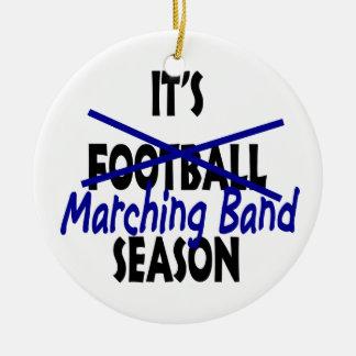 Marching Band Season Photo Round Ceramic Decoration
