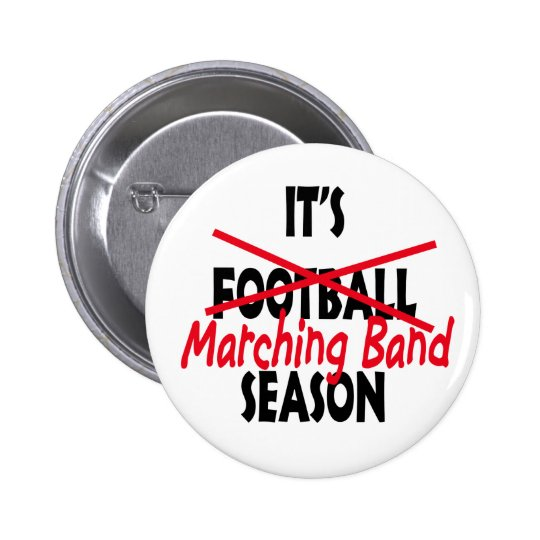 Marching Band Season / Red 6 Cm Round Badge