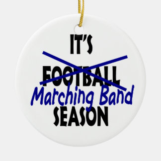 Marching Band Season Round Ceramic Decoration