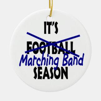 Marching Band Season Round Ceramic Decoration