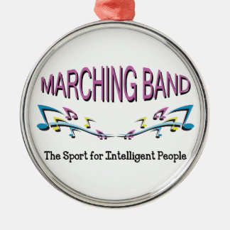 MARCHING BAND Silver-Colored ROUND DECORATION