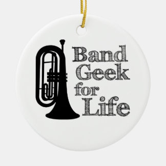 Marching Baritone Band Geek Christmas Ornament