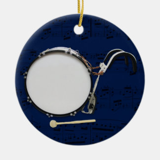 Marching Bass Drum - Pick your color Christmas Ornament