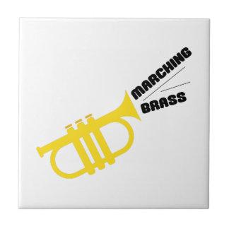 Marching Brass Ceramic Tile