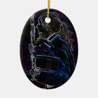 Marching Clarinetist Oval Ornament
