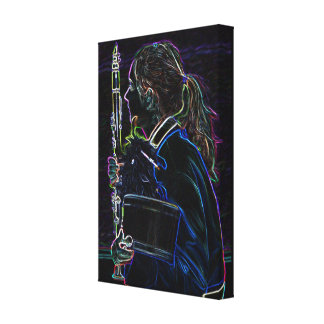 Marching Clarinetist Wrapped Canvas Stretched Canvas Prints