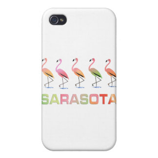 Marching Flamingos Sarasota Cover For iPhone 4