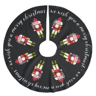 Marching Nutcrackers Merry Christmas Brushed Polyester Tree Skirt