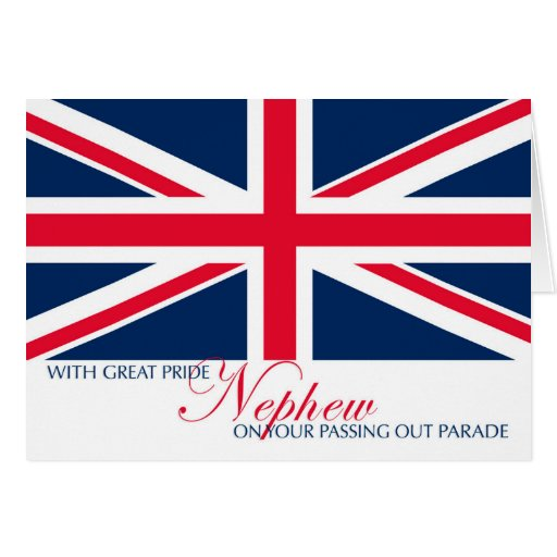 Marching Passing Out Parade Congratulations Nephew Greeting Cards