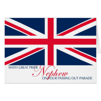 Marching Passing Out Parade Congratulations Nephew Greeting Card