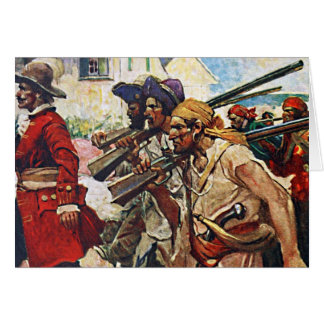 Marching Pirates Redcoat Illustration: Card