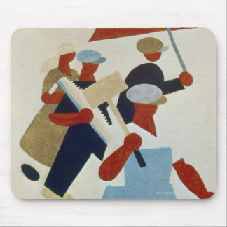Marching Protestors Mouse Pad