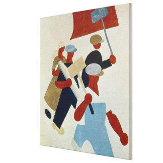 Marching Protestors Stretched Canvas Prints