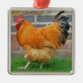 Marching Rooster Christmas Ornament
