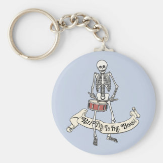 Marching Snare Drum Skeleton Basic Round Button Key Ring
