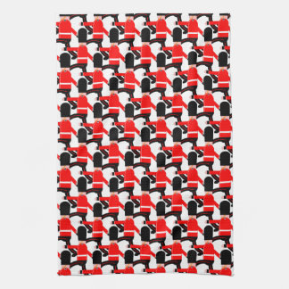 Marching soldiers tea towel