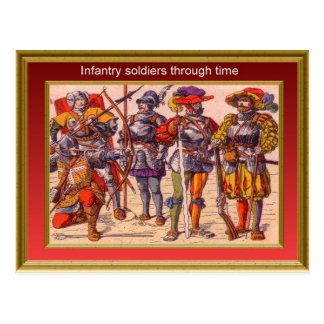 Marching through history, Infantry 13 Postcard