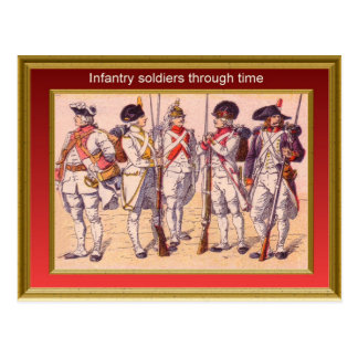 Marching through history, Infantry 16 Postcard
