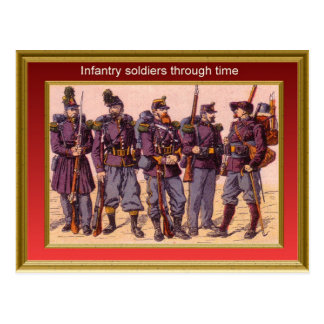 Marching through history, Infantry 4 Postcard