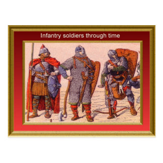Marching through history, Infantry 7 Postcard
