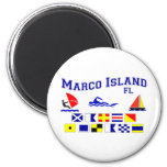 Marco Island FL Signal Flags 6 Cm Round Magnet