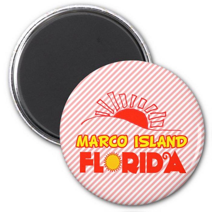Marco Island, Florida 6 Cm Round Magnet