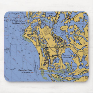Marco Island, Florida Nautical Chart Mousepad