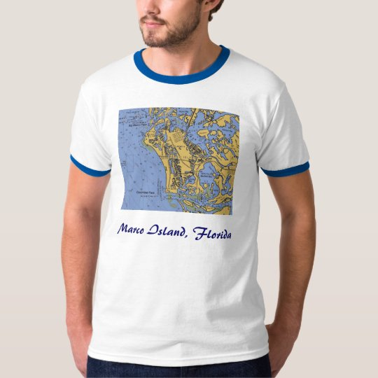 Marco Island, Florida Nautical Chart T-shirt