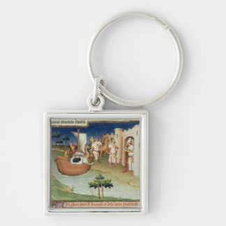 Marco Polo with elephants and camels arriving Key Ring
