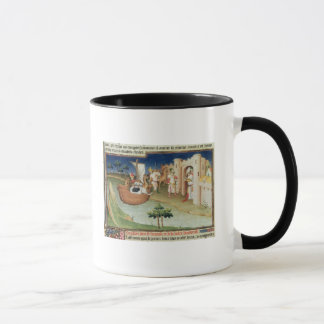 Marco Polo with elephants and camels arriving Mug