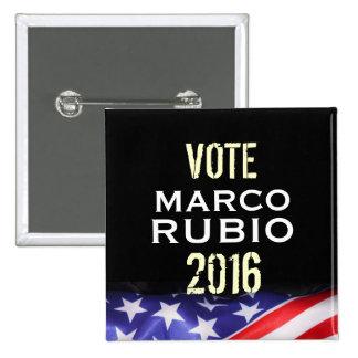 Marco Rubio 2016 Campaign Button (Square)