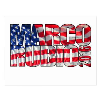 Marco Rubio 2016 (flag) Postcard