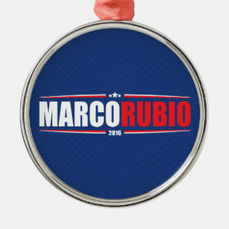 Marco Rubio 2016 (Stars & Stripes - Blue) Silver-Colored Round Decoration
