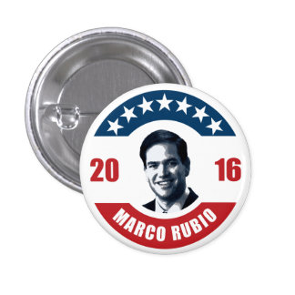 Marco Rubio for president 2016 3 Cm Round Badge