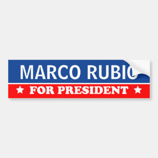 Marco Rubio For President 2016 Bumper Sticker