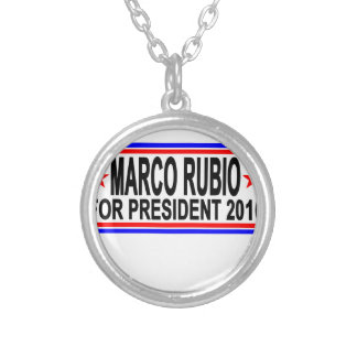 MARCO RUBIO FOR PRESIDENT 2016.png Round Pendant Necklace