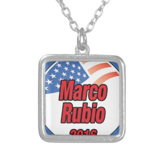 Marco Rubio for president in 2016 Square Pendant Necklace