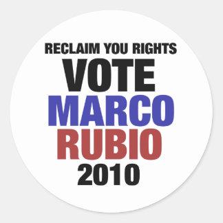 Marco Rubio for senate Round Sticker