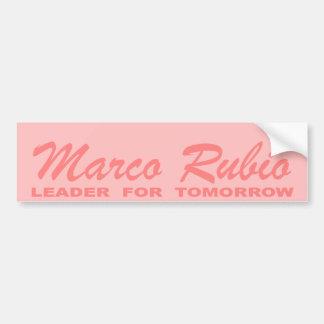 Marco Rubio: Leader for Tomorrow (pink) Car Bumper Sticker