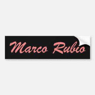 Marco Rubio (pink and black) Bumper Sticker