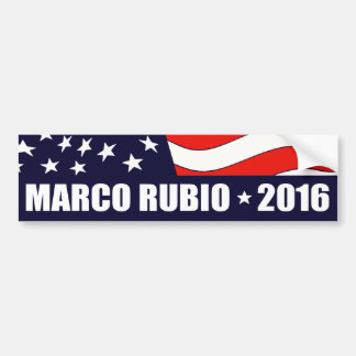 Marco Rubio President 2016 American Flag Bumper Sticker