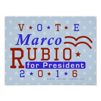 Marco Rubio President 2016 Election Republican Poster