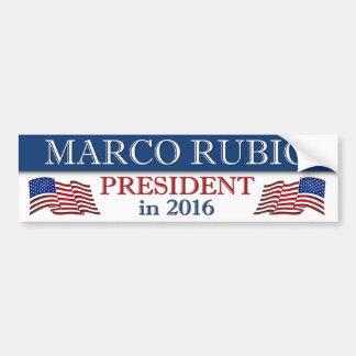 Marco Rubio President 2016 Patriotic Bumper Sticker