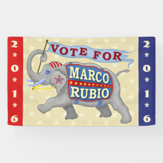Marco Rubio President 2016 Republican Elephant Banner